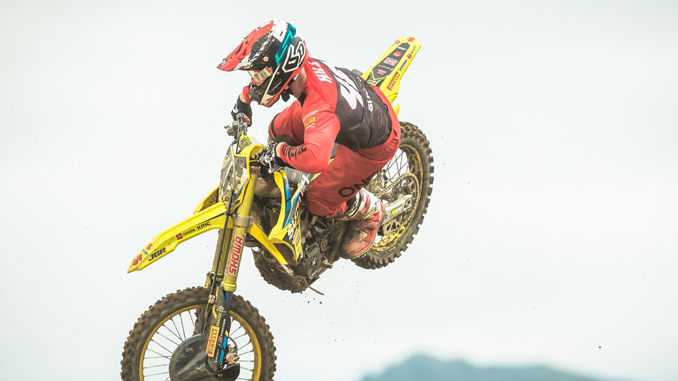 Justin HIll (#46) finished strong at Fox Raceway