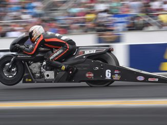 Pro Stock Motorcycle - Andrew Hines - Virginia NHRA Nationals action