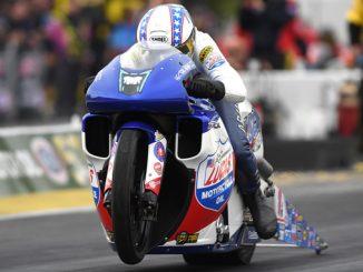 Pro Stock Motorcycle - Hector Arana Jr. - Arbys NHRA Southern Nationals action