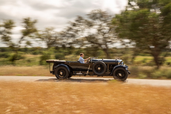 The 1931 Bentley 8-Litre Tourer offered from the Sáragga Collection takes to the road