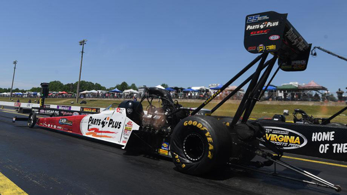 Top Fuel - Clay Millican - Virginia NHRA Nationals - action