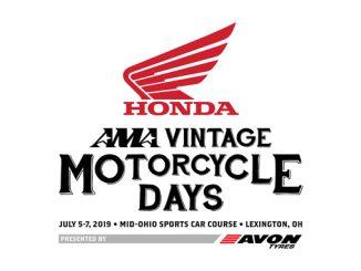 2019 Honda AMA Vintage Motorcycle Days presented by Avon Tyres logo