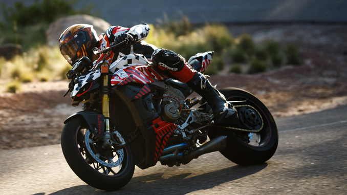 Carlin Dunne Riding Ducati Streetfighter V4 Prototype at Pikes Peak in Colorado