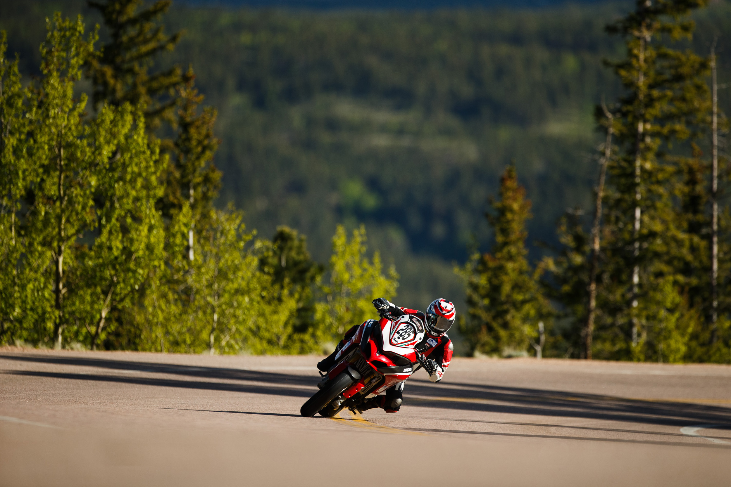 Codie Vahsholtz Riding Ducati Multistrada 1260 at Pikes Peak in Colorado