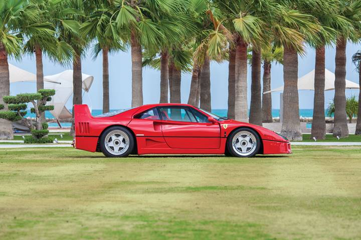 1990 Ferrari F40 signed by Sebastian Vettel (Credit – Ahmed Qadri © 2019 Courtesy of RM Sotheby's)