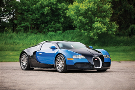2008 Bugatti Veyron 16.4 (David Bush © 2019 Courtesy of RM Sotheby's)