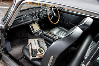 A look at the interior gadgets in the Bond DB5 (Simon Clay © 2019 Courtesy of RM Sotheby's)