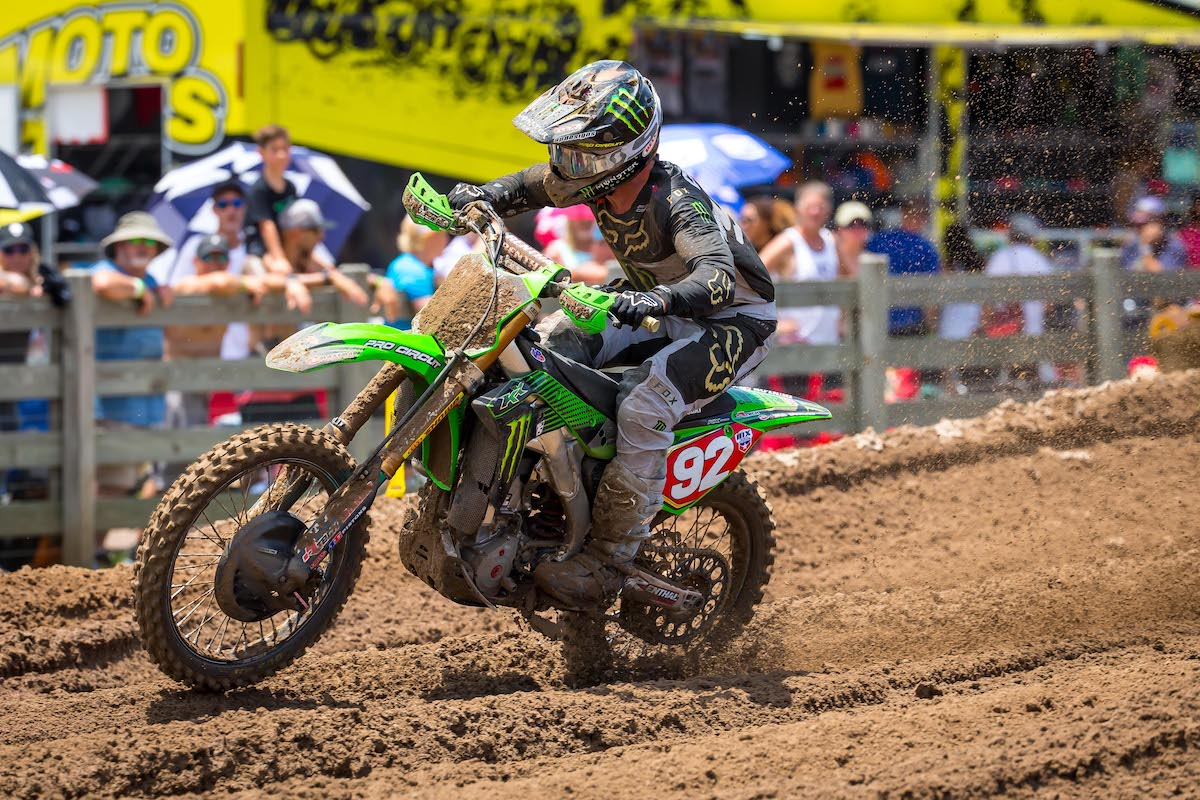Championship leader Cianciarulo had to dig deep in each moto to land on the overall podium - US Assure Florida National