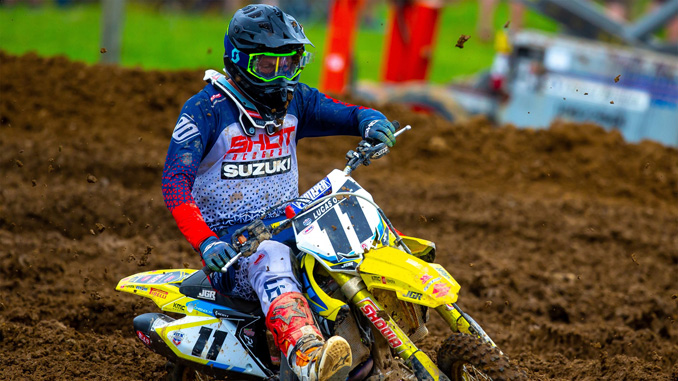 Kyle Chisholm (#11) joins the JGRMX-Yoshimura-Suzuki Racing Team on his RM-Z450 - High Point National