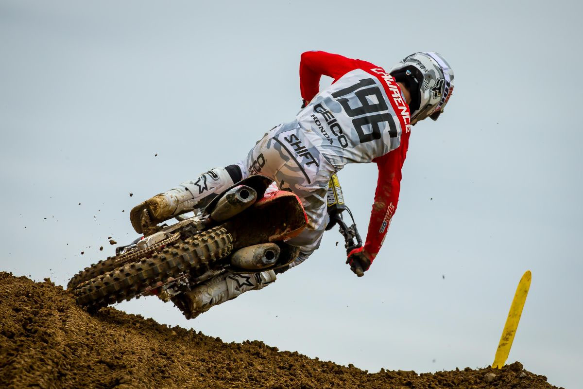Lawrence took a dominant first moto win to finish runner-up (1-3) - High Point National