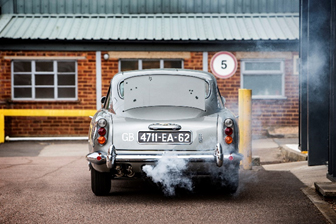 The smoke screen dispenser on the DB5 is engaged (Simon Clay © 2019 Courtesy of RM Sotheby's