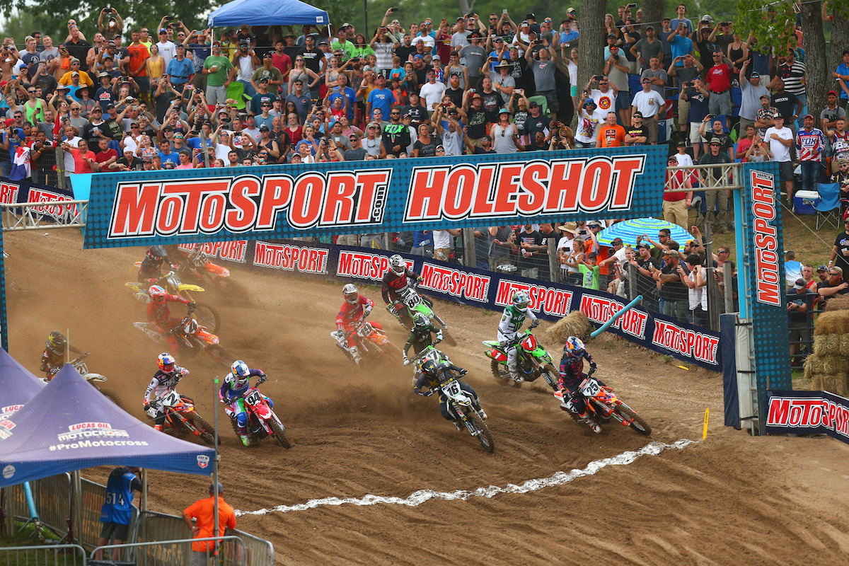 Thousands of fans were on hand to welcome Pro Motocross back to Southwick