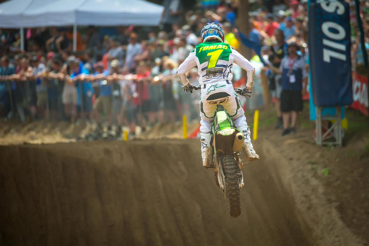Tomac's podium finish moved into firm control of the championship