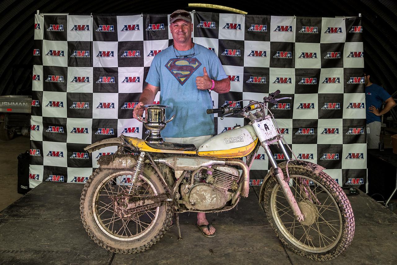 2019 AMA Off-Road Senior Vintage Grand Champion Sam Markley (Credit: Jen Muecke)