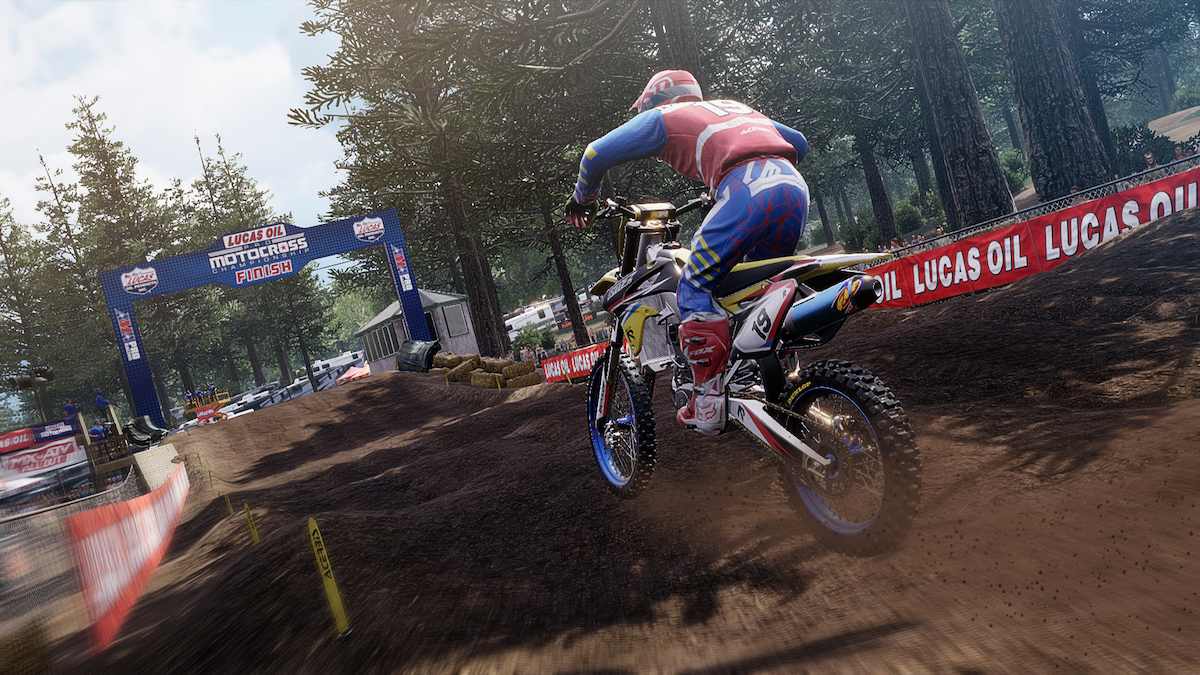Starting today players can tackle the infamous whoops at Washougal MX Park. Image- Rainbow Studios