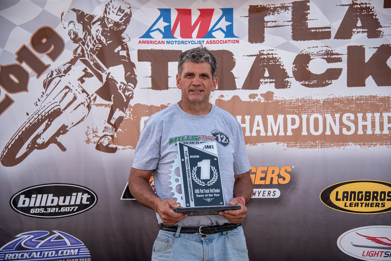 2019 AMA Vet_Senior Flat Track Racer of the Year Rob Williams. (Credit- Jen Muecke)