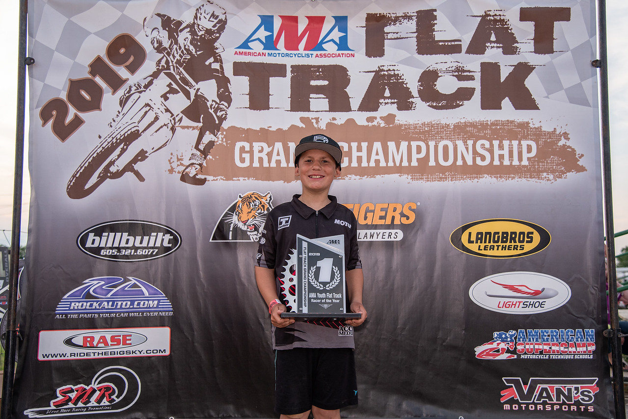2019 AMA Youth Flat Track Racer of the Year Travis Horn. (Credit- Jen Muecke)