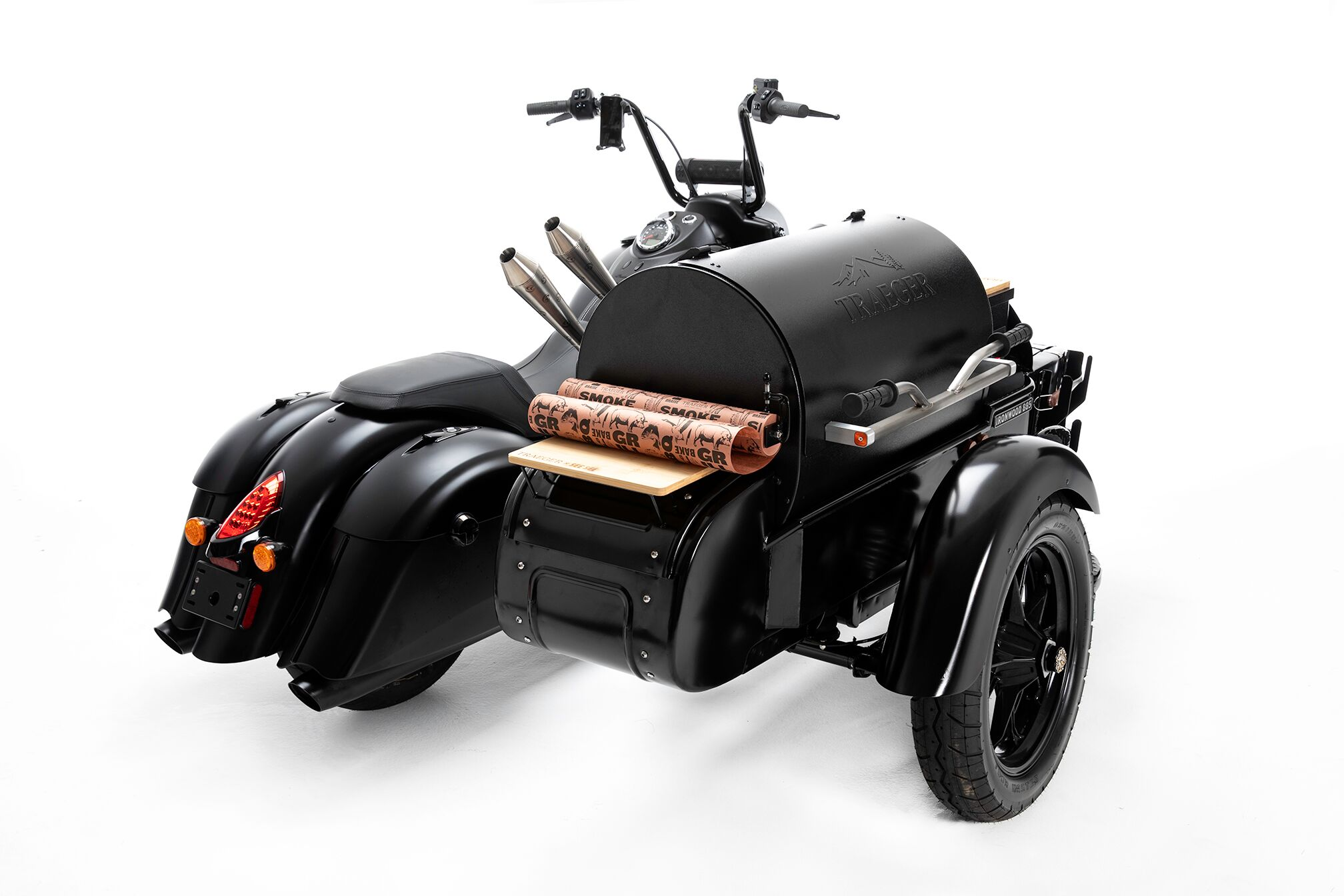 Indian Motorcycle and Traeger Wood-Fired Grills