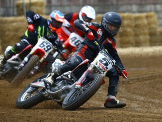 The nation's best amateur flat track racers compete in short track-AMA Flat Track Grand Championship. (Credit- Joe Hansen)