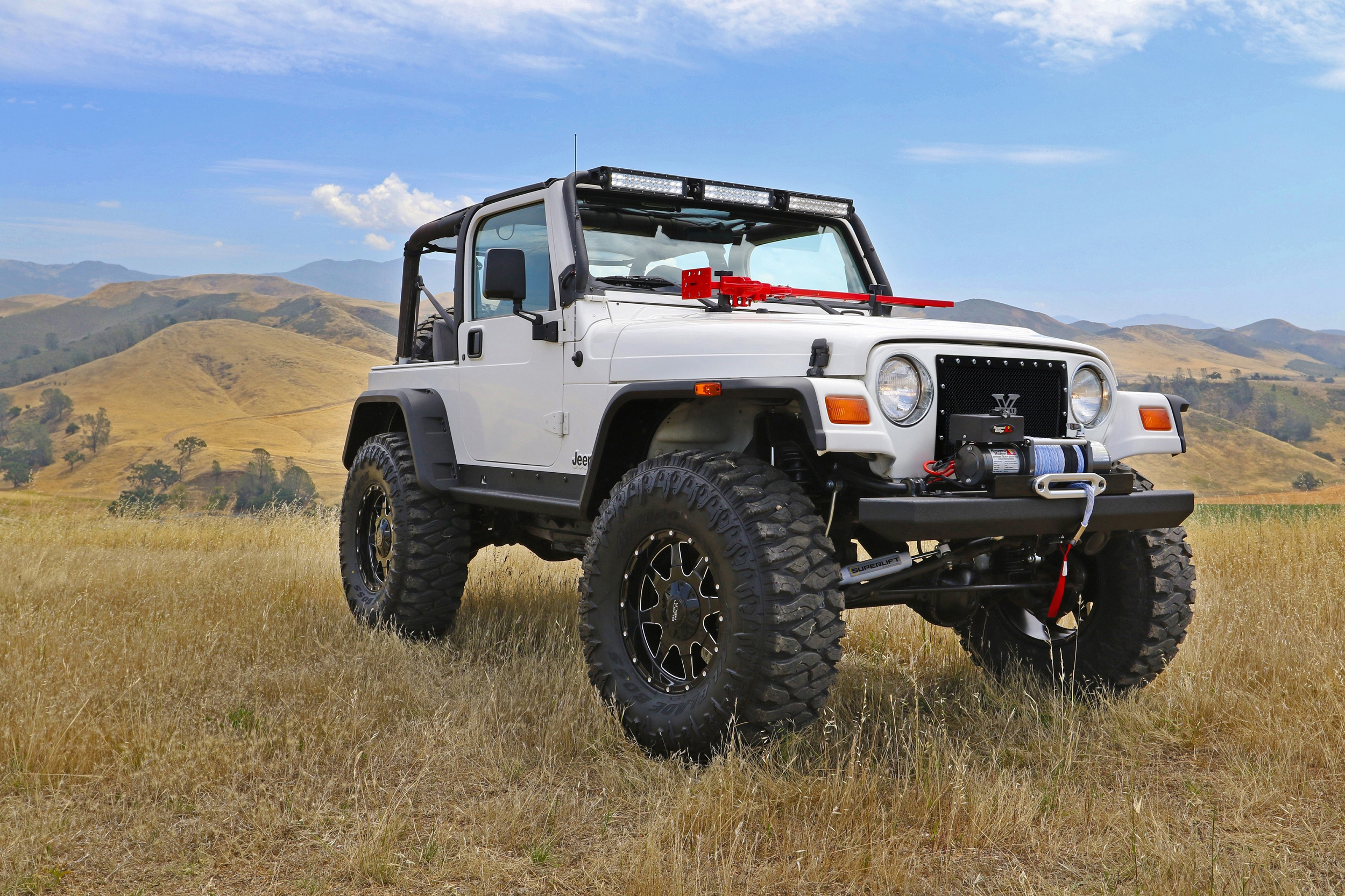 1997 Jeep Wrangler customized by Santa Ynez Valley Union High School (photo credit- SEMA)