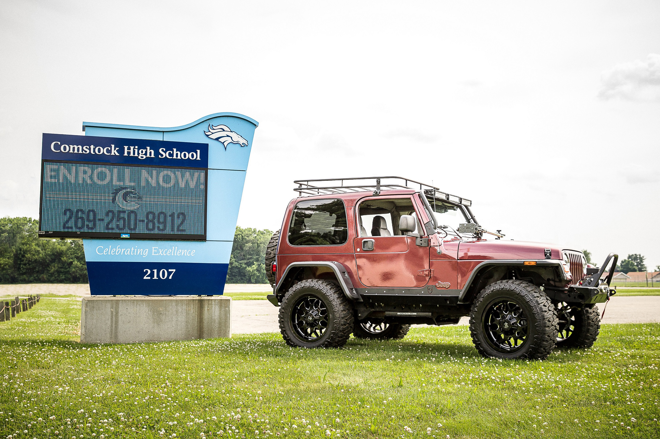2004 Jeep Wrangler customized by the Comstock High School (photo credit- Beam Photography)