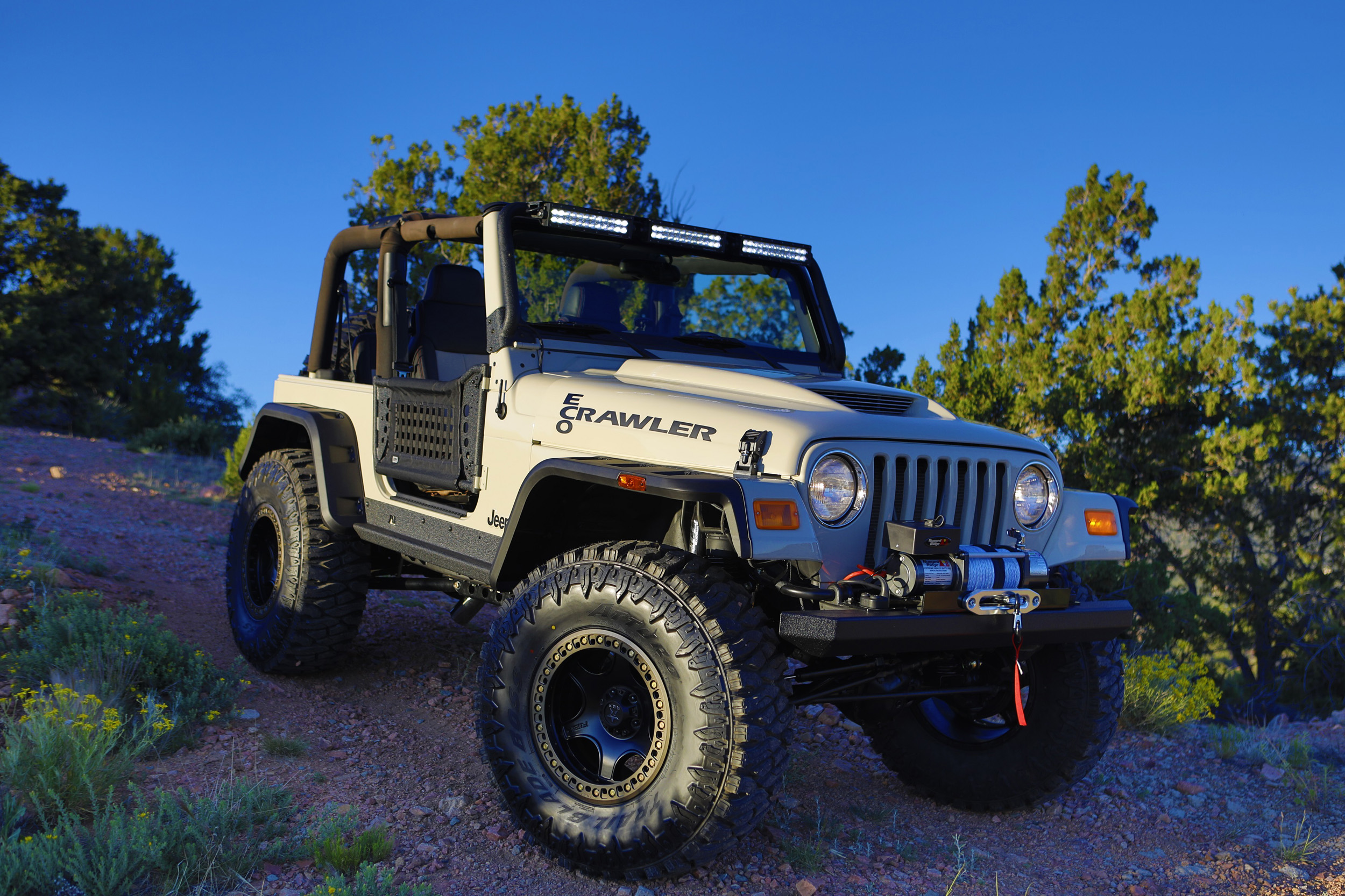 2005 Jeep Wrangler customized by the Santa Fe Early College Opportunities (photo credit- Gerry Ruelas Photography)
