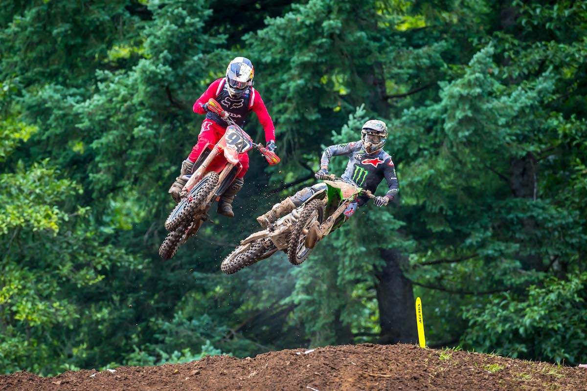 A determined Tomac came from behind in both motos to take the win