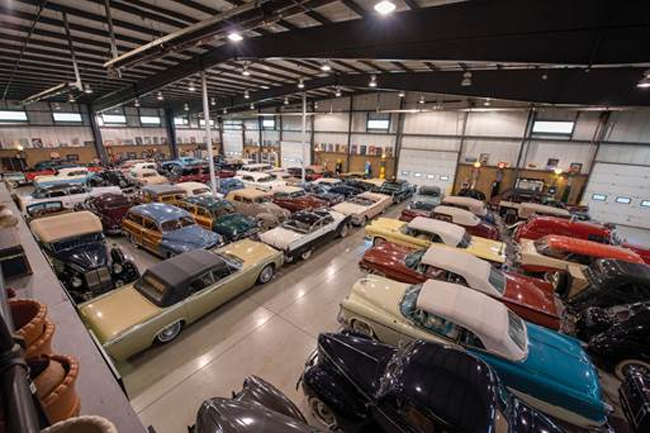 An overview of the many cars offered from The Ed Meurer Collection - Auburn Fall Sale (© 2019 Courtesy of RM Auctions)