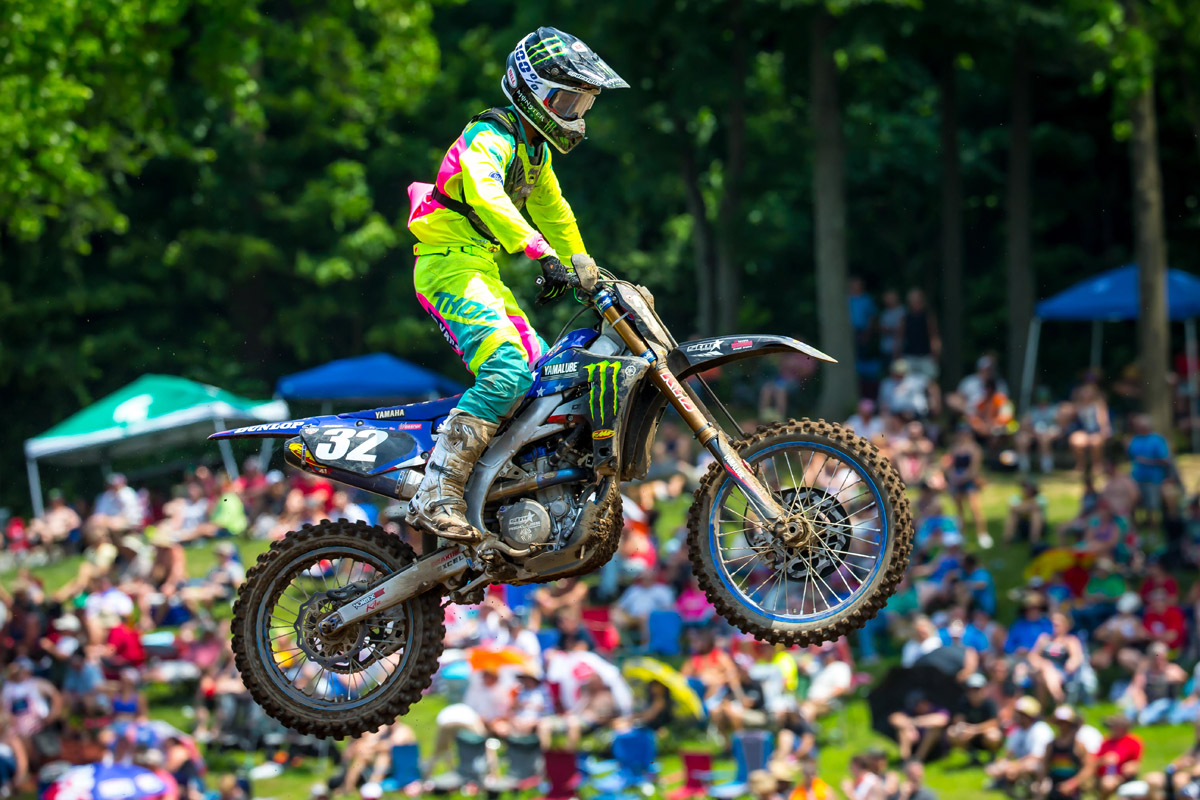 Cooper had to dig deep in each moto to land on the overall podium - RedBud