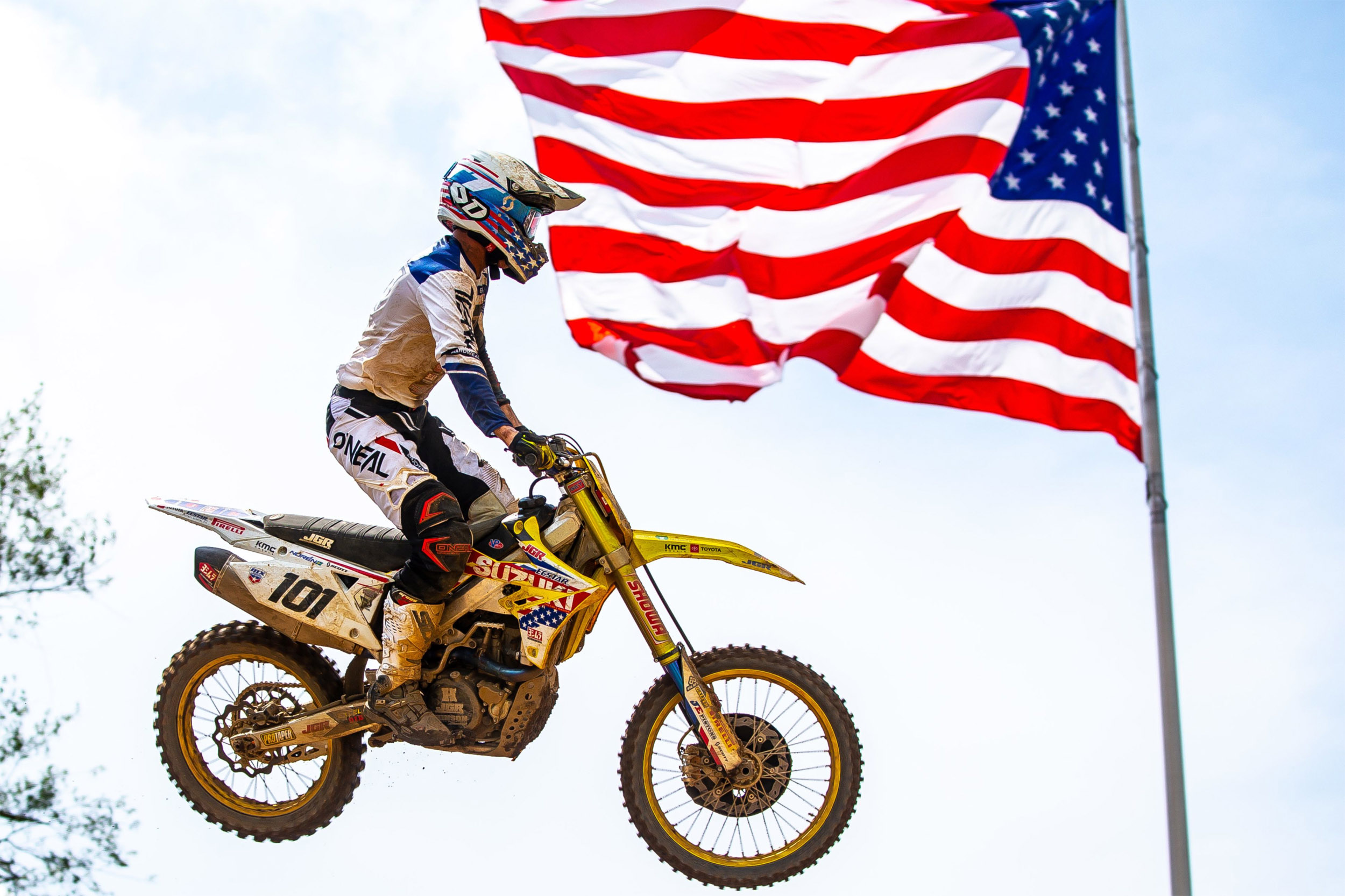 Fredrik Noren (#101) celebrates America's independence with a top-ten overall finish on his RM-Z450 - RedBud