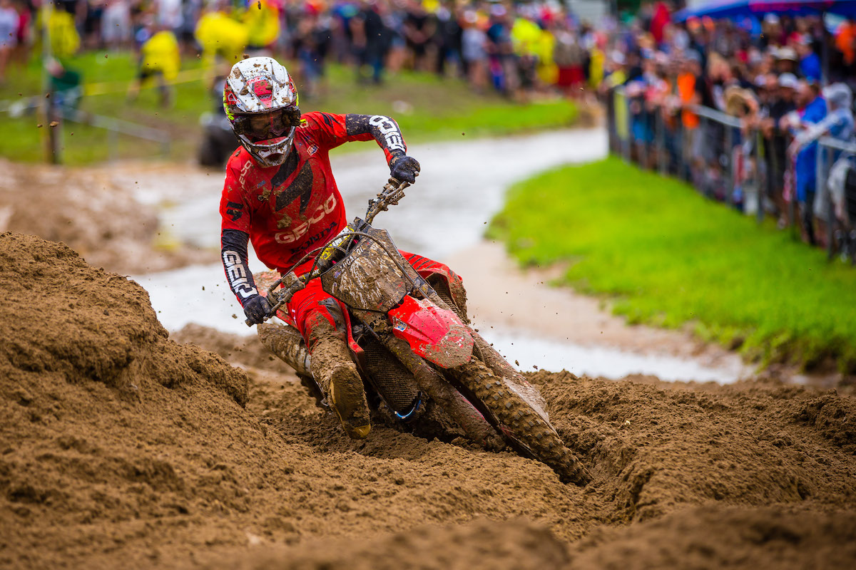 Lawrence parlayed the second moto win of his career into a second overall podium result - Pro Motocross - Millville