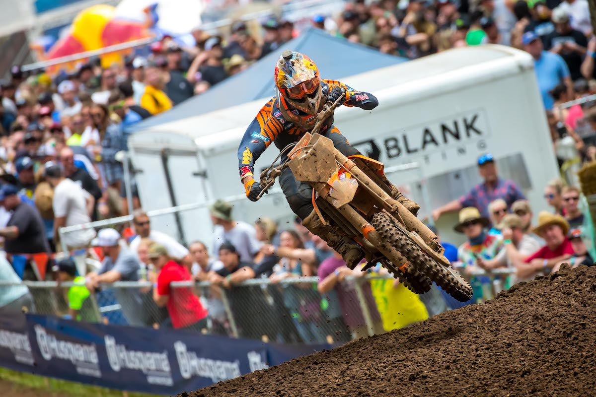 Musquin bounced back from a slow start to finish third overall at Washougal National
