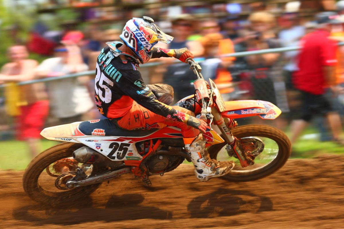 Musquin bounced back from a tough Moto 1 to take an impressive Moto 2 win - RedBud