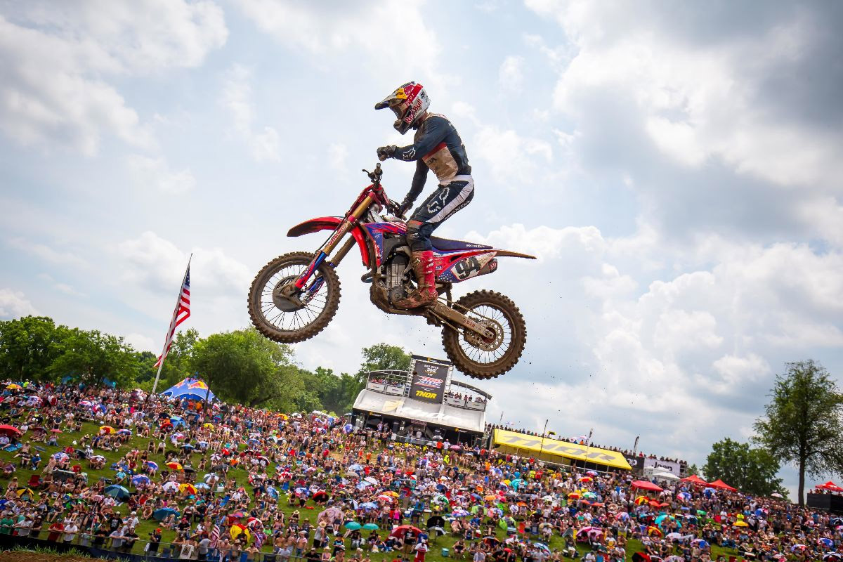 Roczen finished on the podium in moto two and remains third in the championship - RedBud