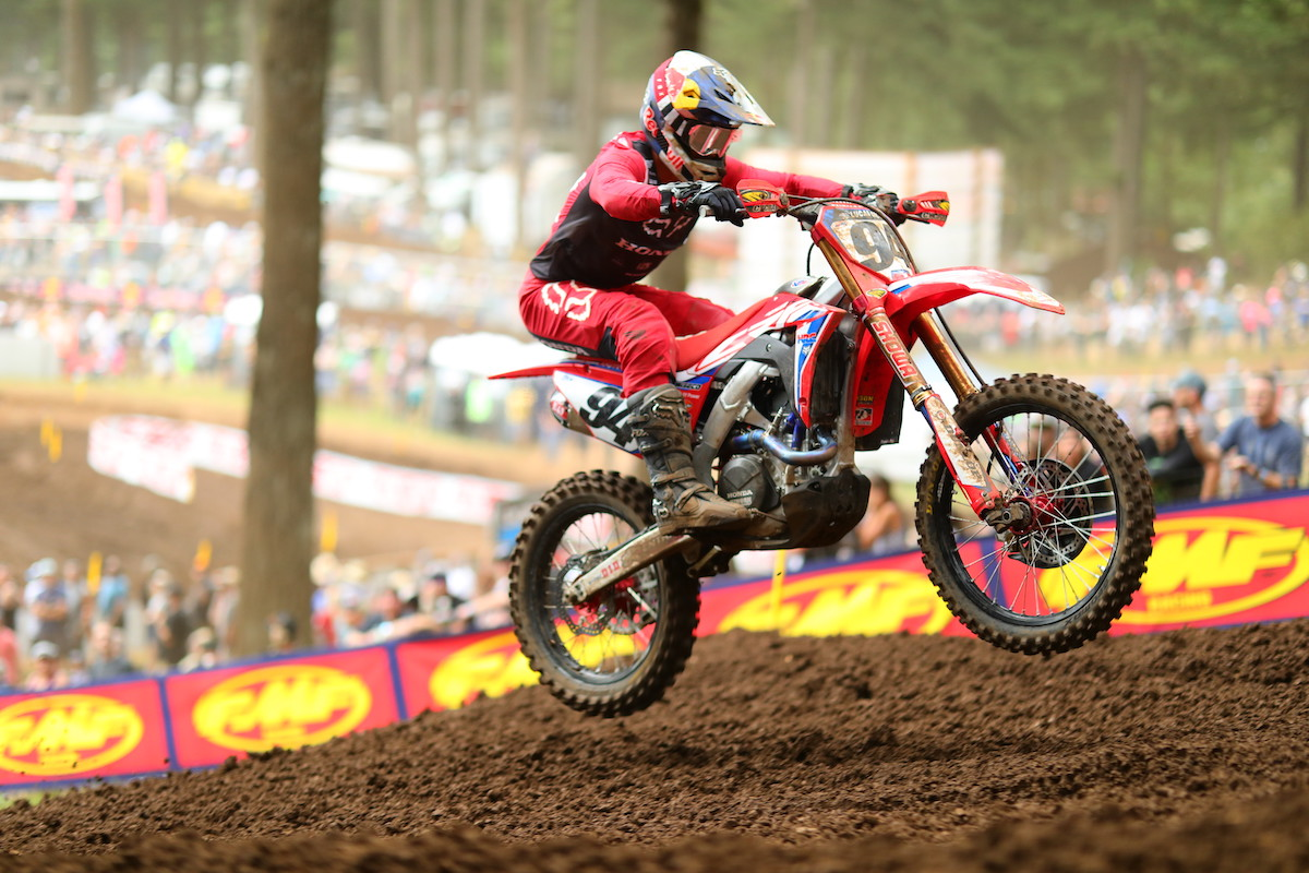 Roczen made his long-awaited return to the overall podium at Washougal National