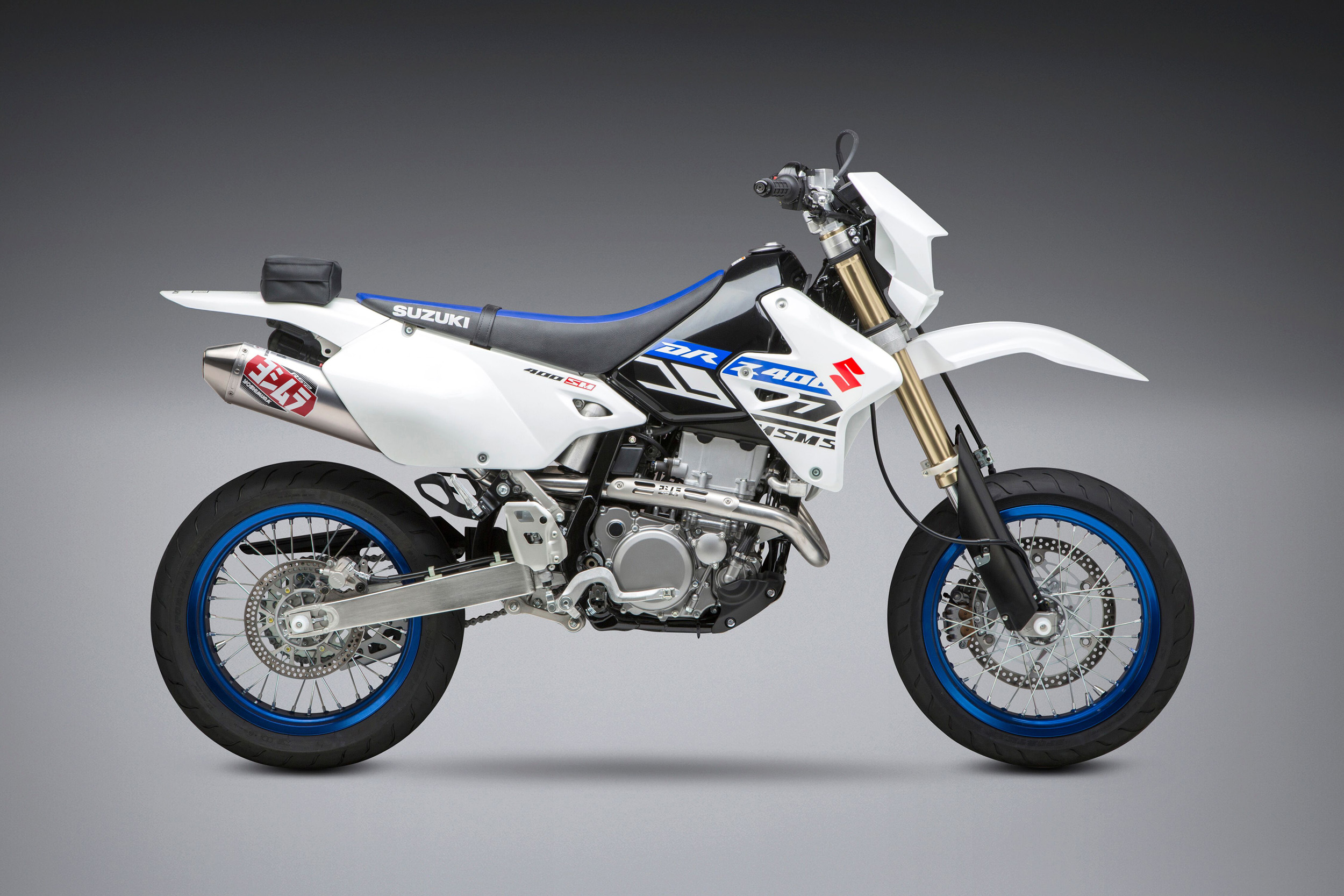 2019 Suzuki DR-Z 400 SM with Yoshimura RS-2 full system SS_AL_SS