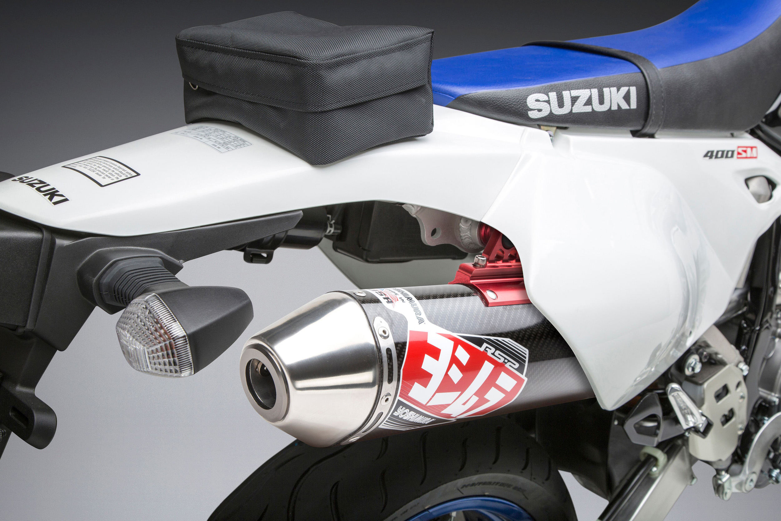 2019 Suzuki DR-Z 400 SM with Yoshimura RS-2 full system SS_CF_SS