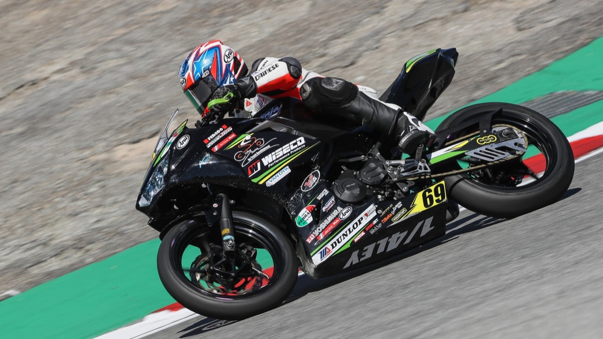 Dallas Daniels shown here aboard the Quarterley Racing-On Track Development Kawasak