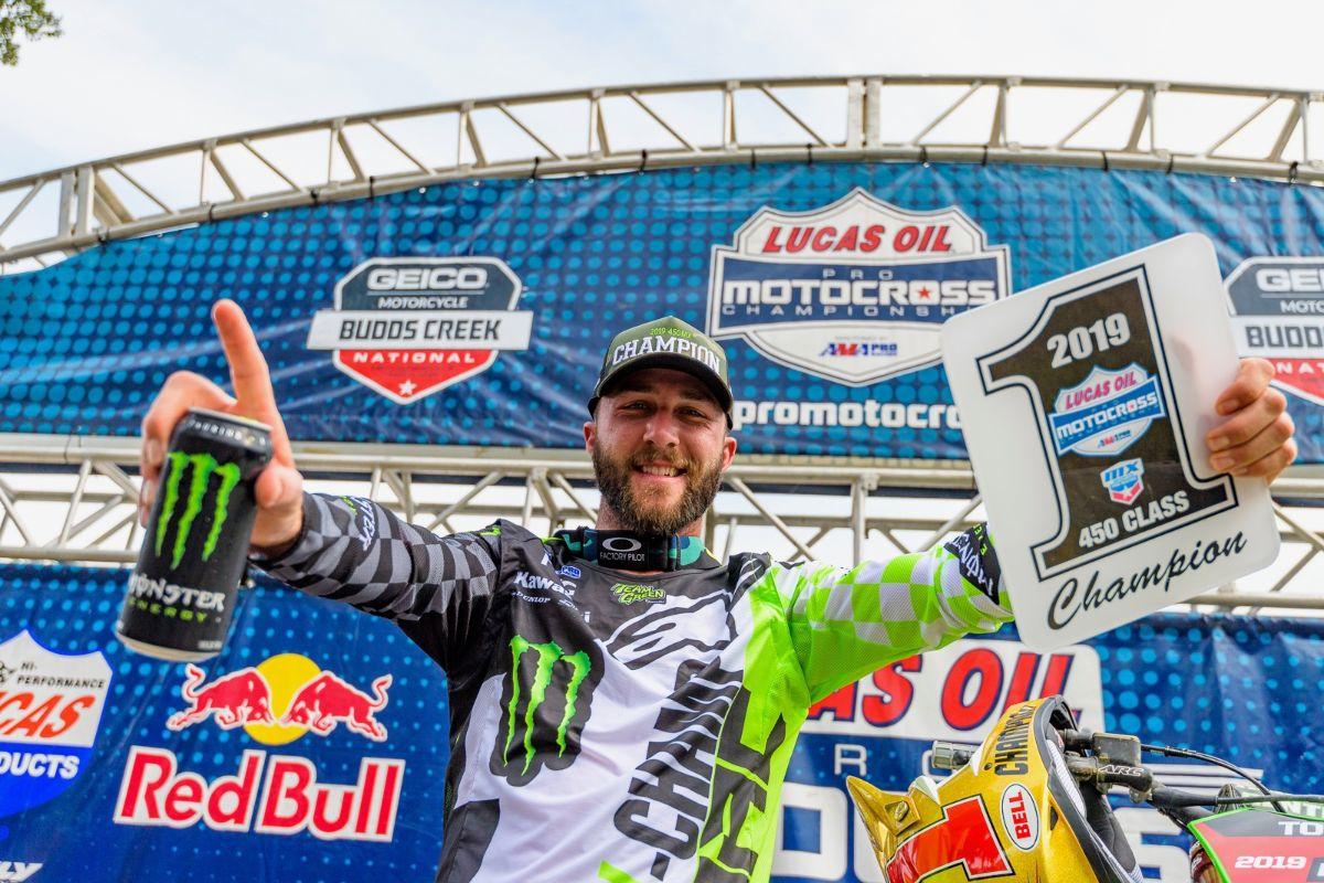 Monster Energy Kawasaki Rider Eli Tomac Captures Third Consecutive Pro Motocross Championship