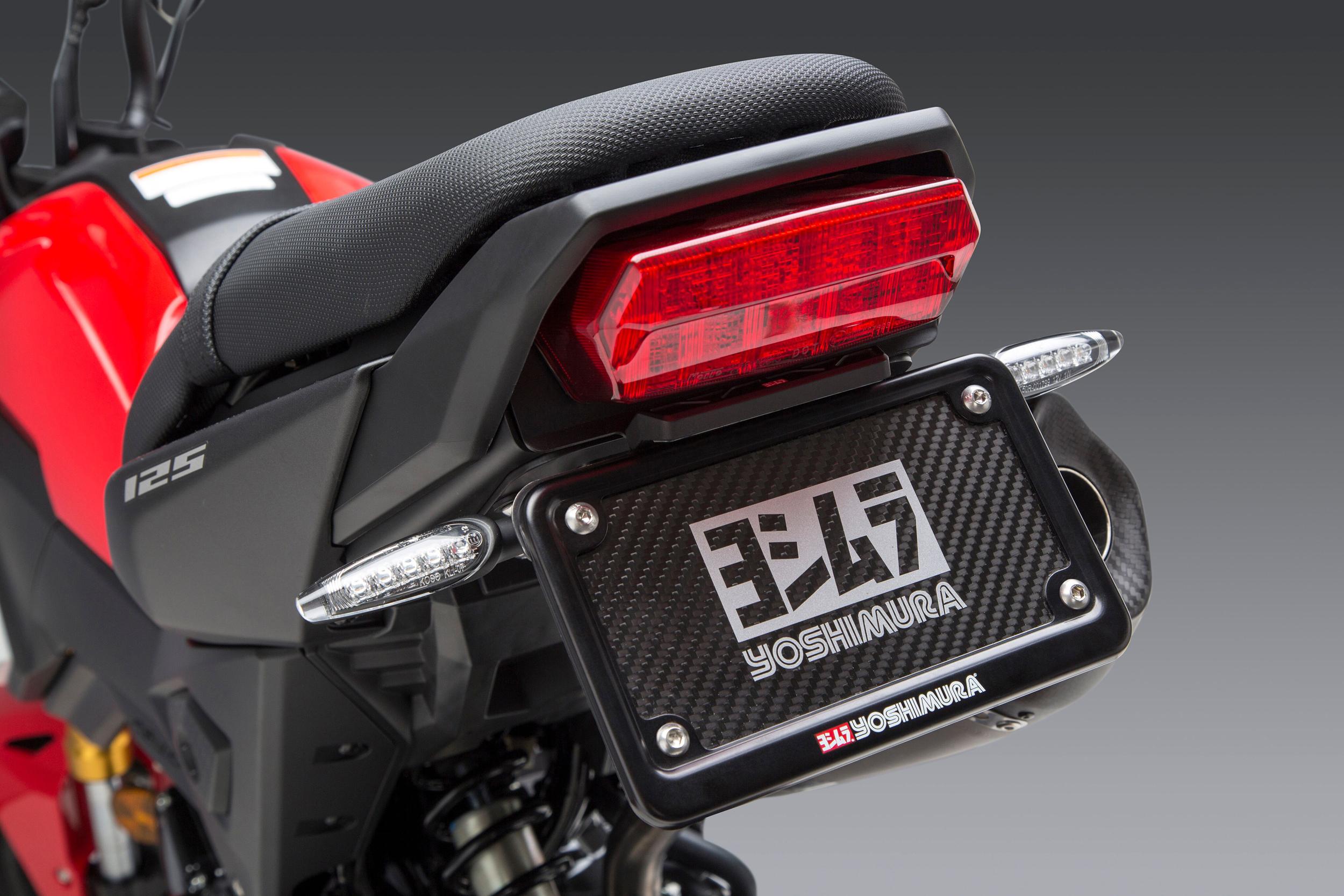 Yoshimura High Mount Universal Turn Signal Brackets Kit as seen here on the Honda MSX 125