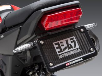 Yoshimura High Mount Turn Signal Bracket Kit as seen here on the Honda MSX 125