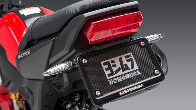 Yoshimura High Mount Turn Signal Bracket Kit as seen here on the Honda MSX 125