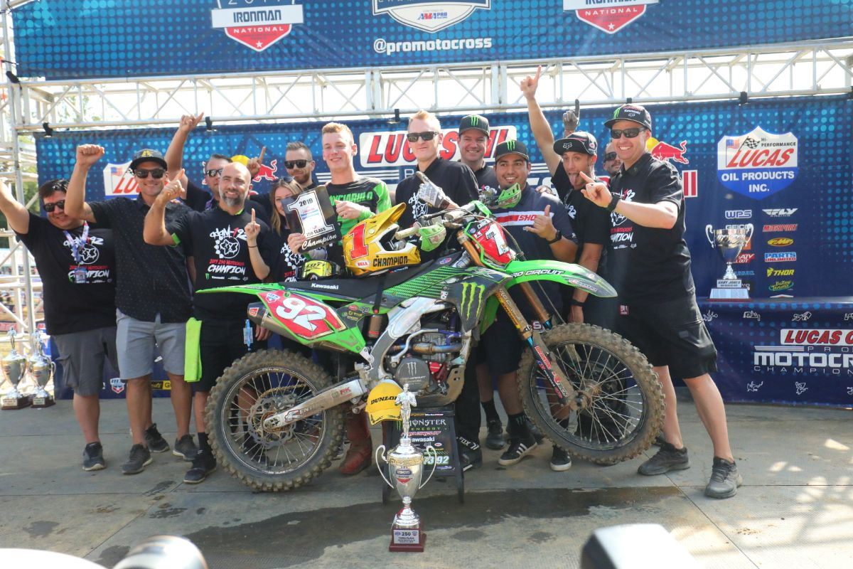 Adam Cianciarulo captured his first professional championship by claiming the 250 Class