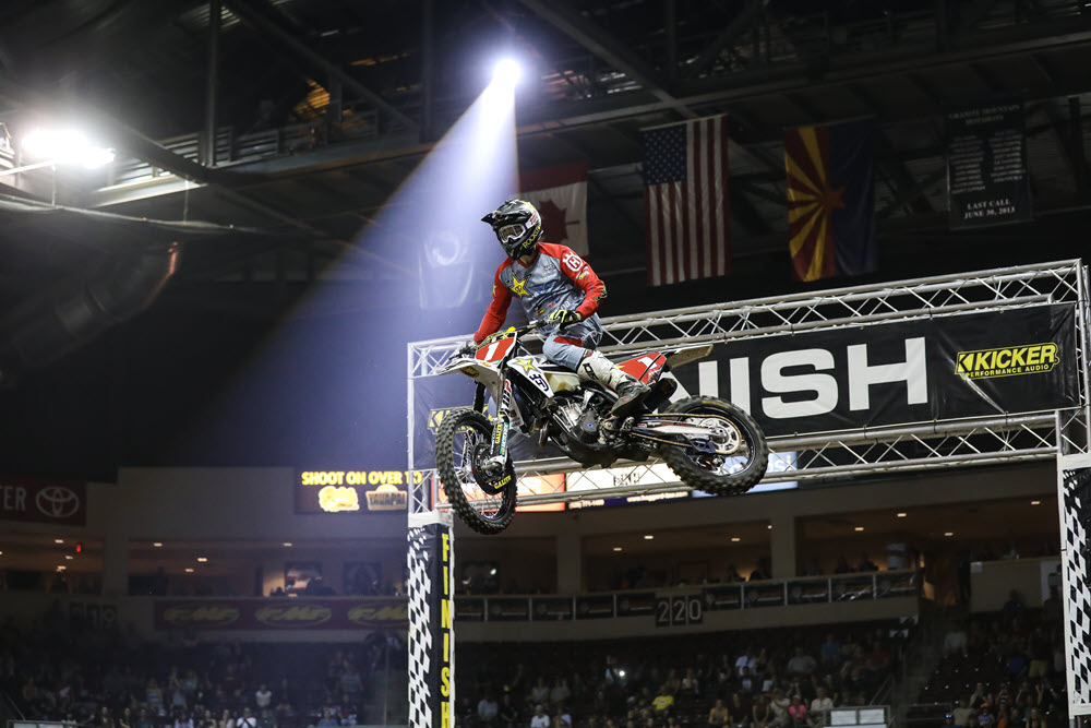 Colton Haaker had a nearly perfect in route to the opening round win - EnduroCross