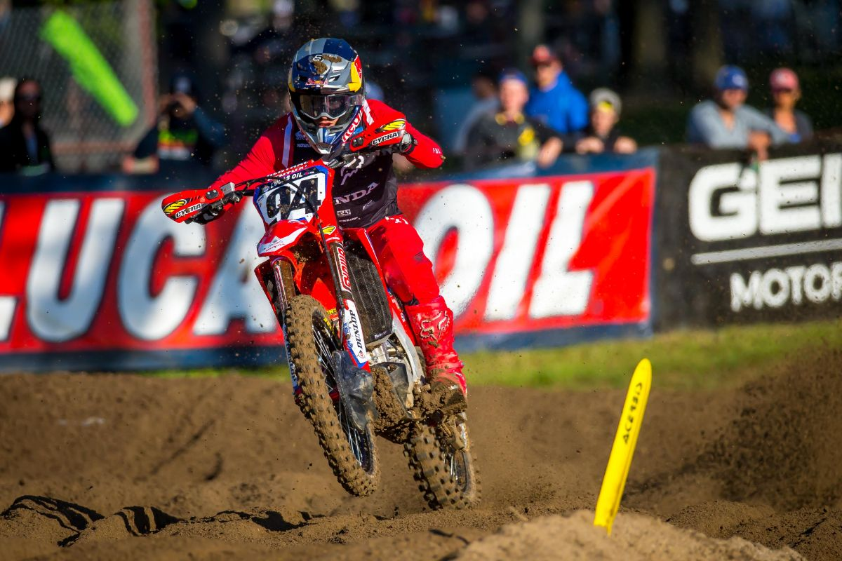 Roczen led both motos early and held on to finish runner-up - The STACYC Stability Cycle Ironman National