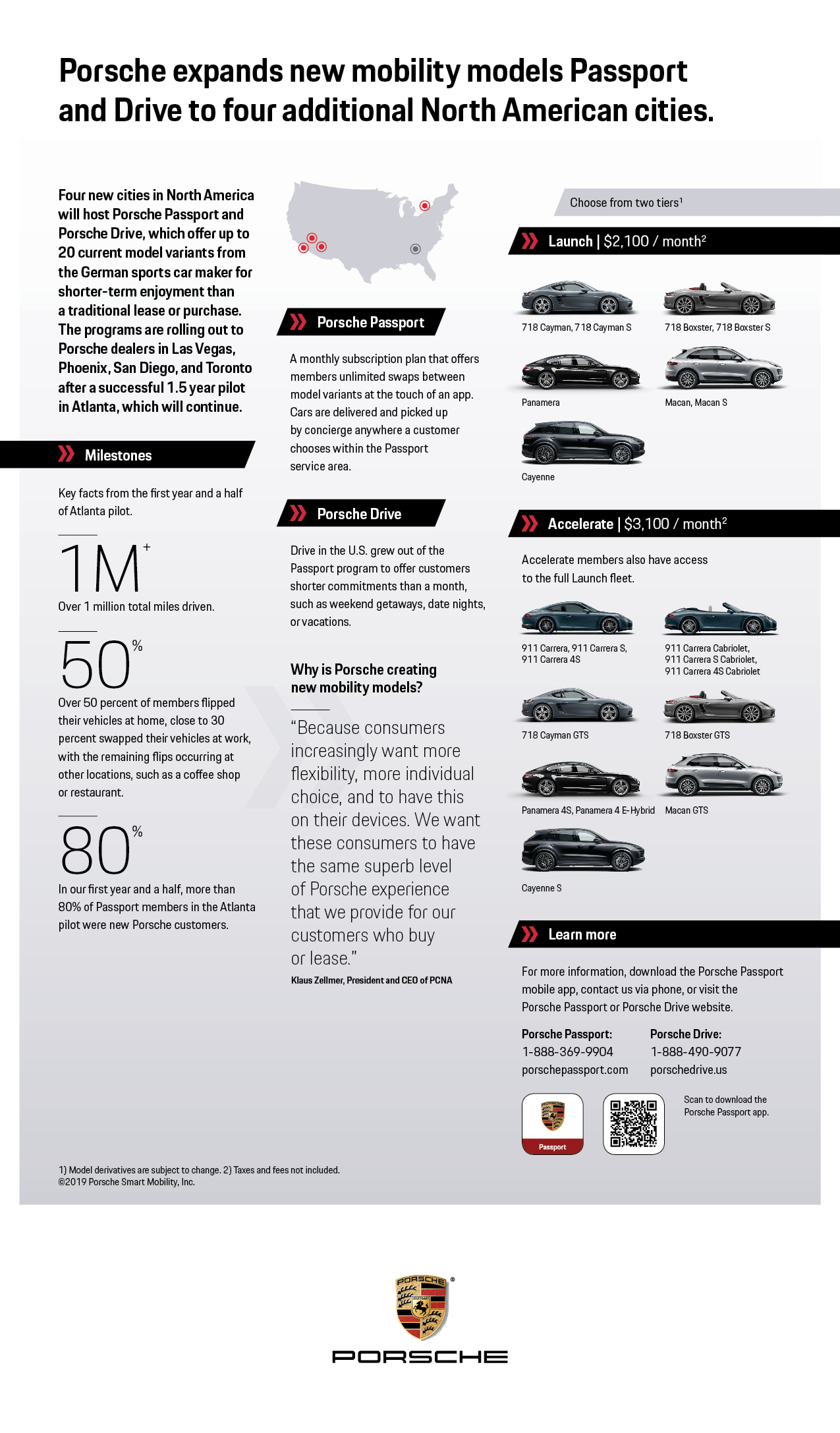 Porsche Expands New Mobility Models 'Passport' & 'Drive'