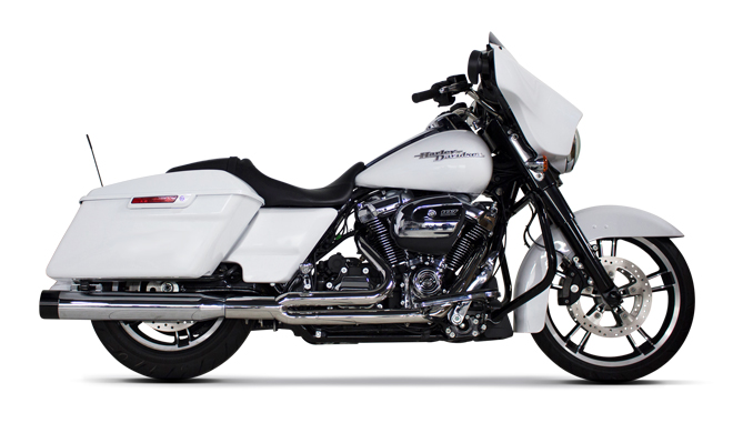 TBR V-TWIN HD Touring Comp-S 2-1 Full System w- Ghost pipe