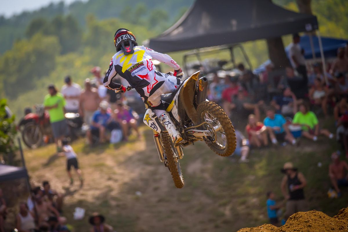 A hard charge in Moto 2 carried Anderson to second overall - Budds Creek
