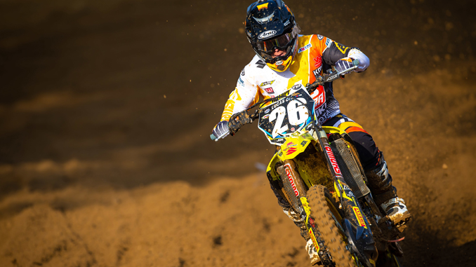 Alex Martin (#26) rebounds in the second moto on his RM-Z250 scoring his fifth podium finish of the season