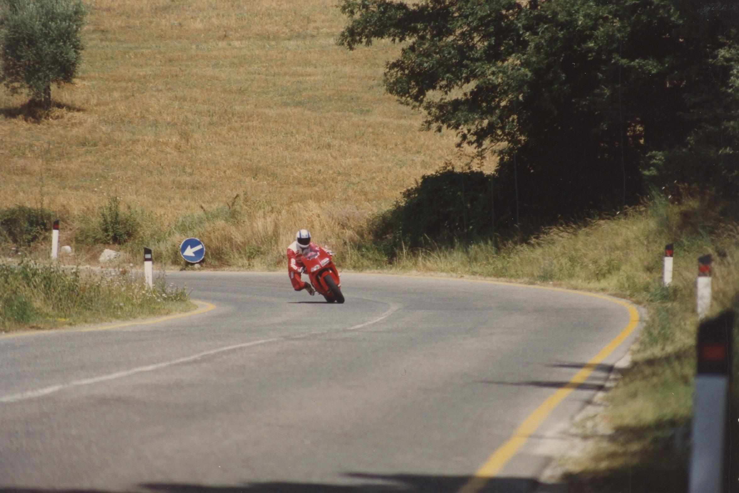 Massimo Tamburini and his Ducati 916